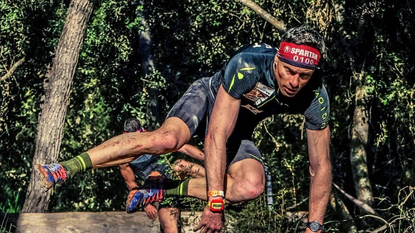 Jérémie Gachet est de plus en plus à l'aise sur les obstacles qui jalonnent une Spartan Race.