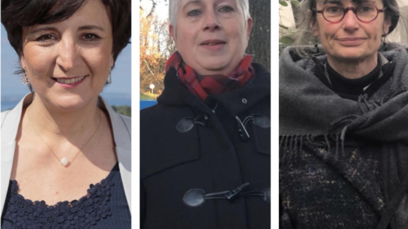 Astrid Baud-Roche, Isabelle Naïm-Christin et Elisabeth Charmot ont été toutes trois candidates aux élections municipales de Thonon-les-Bains.