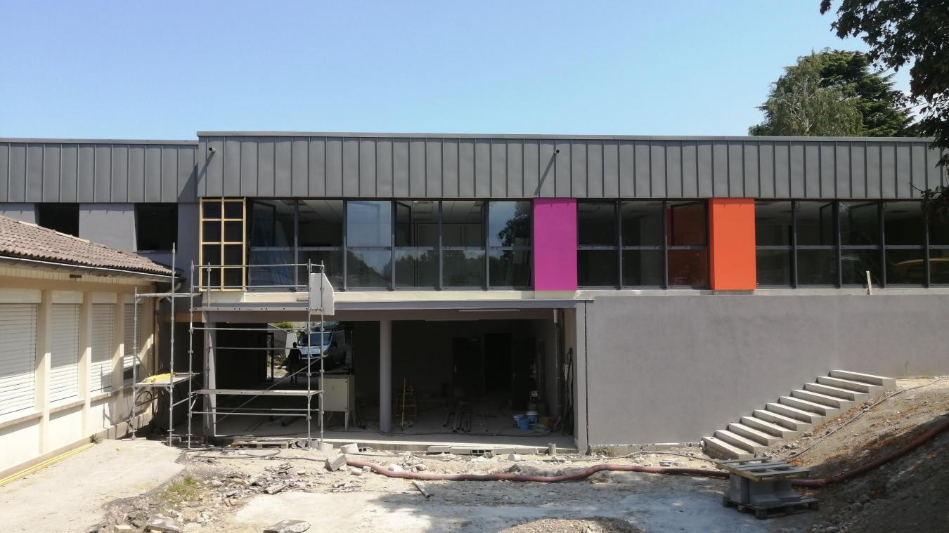 L'extension de l'école de la Détanche est en cours de finitions.
