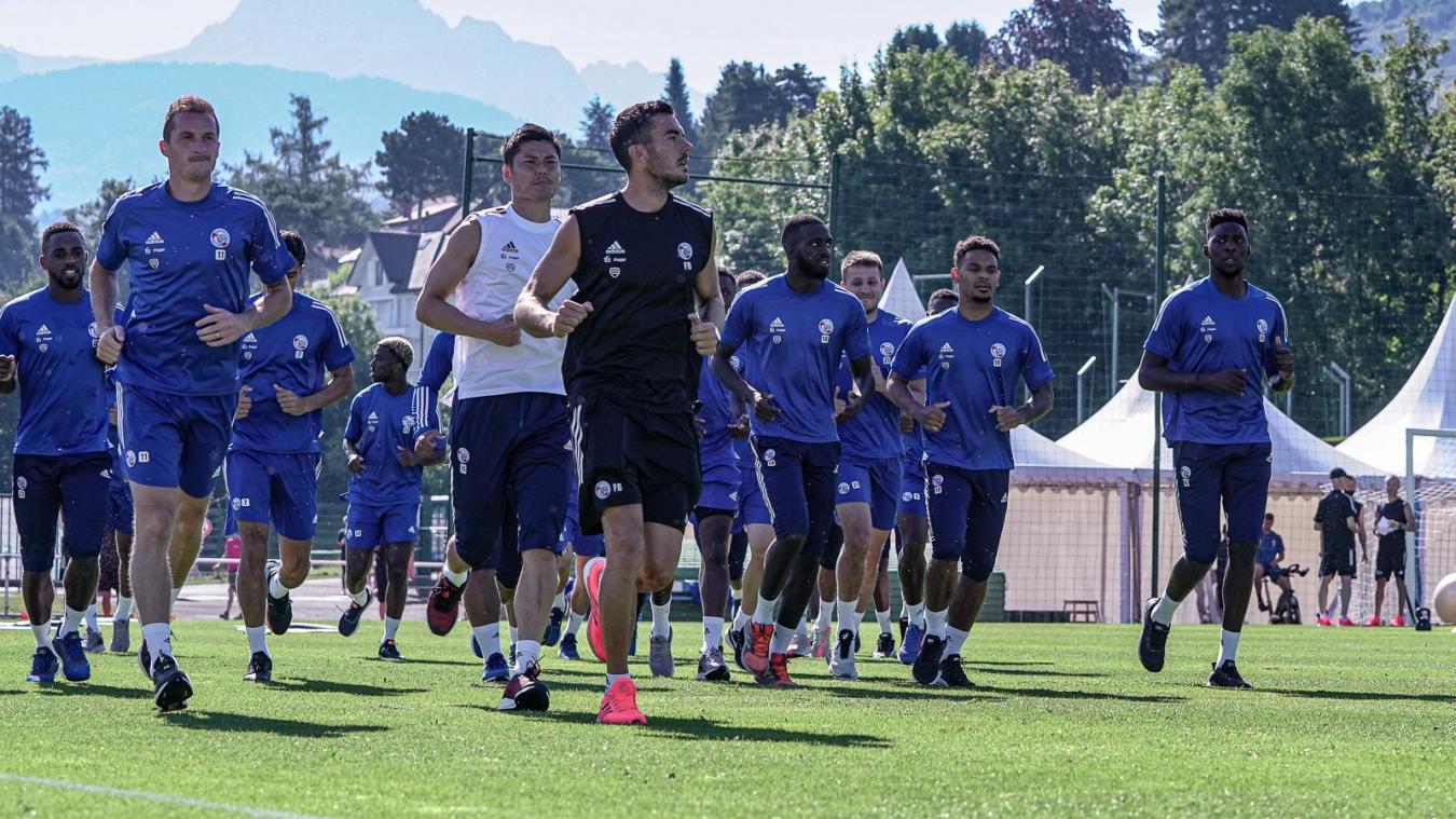 Les joueurs strasbourgeois sont restés 10 jours à Evian.