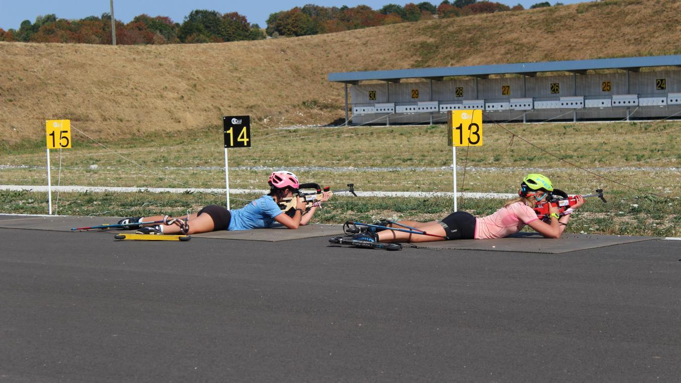 (PHOTOS) Haut-Bugey : les équipes de France de biathlon de passage aux Plans d'Hotonnes