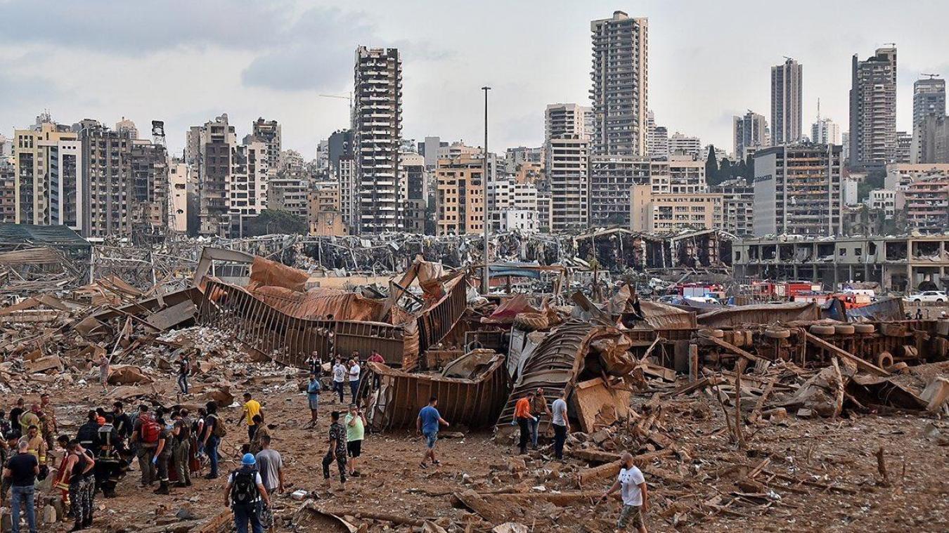 Les deux explosions ont fait de gros dégâts à Beyrouth.