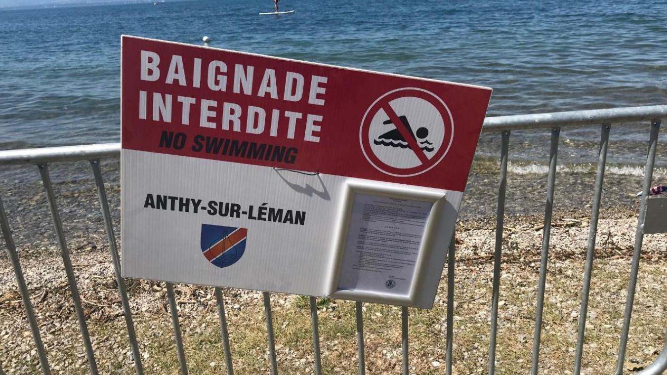 Une des plages d'Anthy de nouveau interdite à la baignade