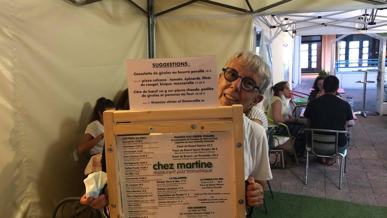 Martine tient solidement les rênes de son restaurant depuis octobre 2011.