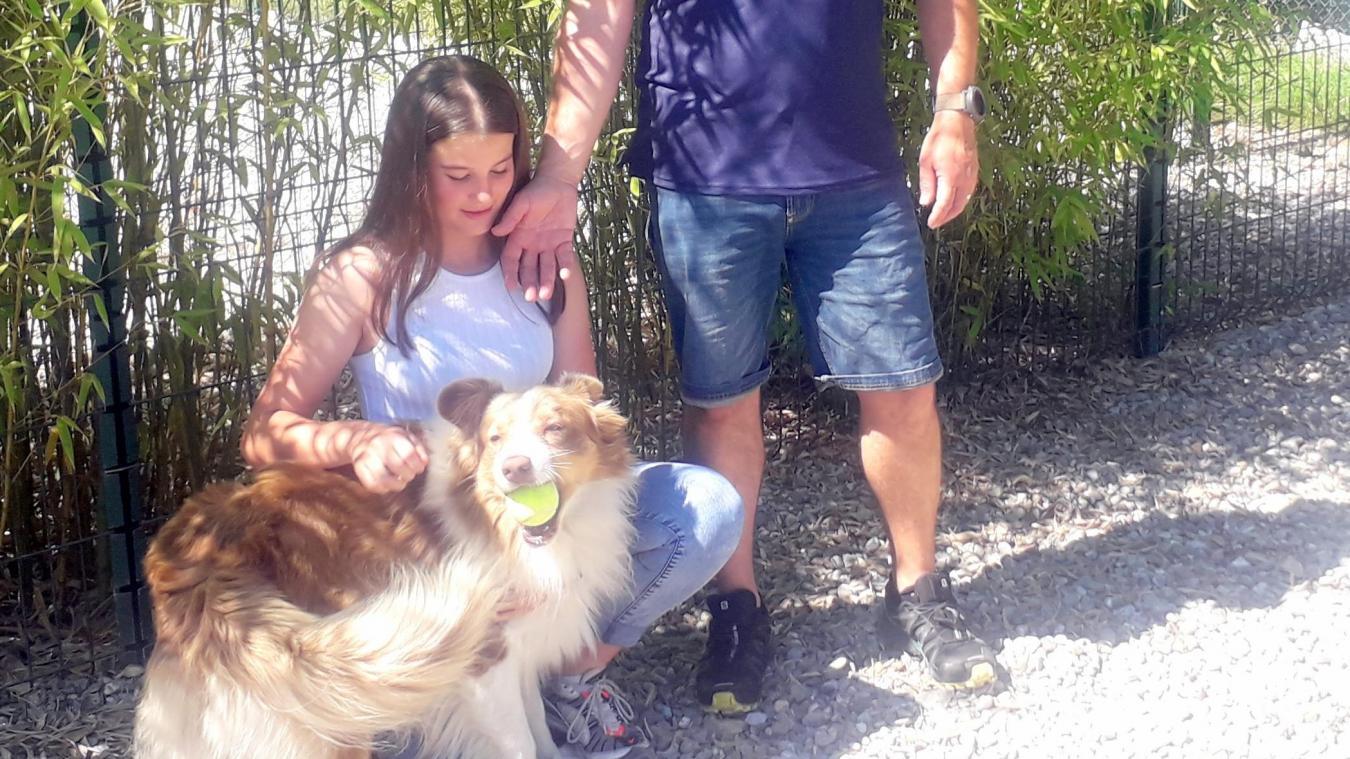 Christophe Moëne et sa fille Chloé prennent soin de Nocki, un de leurs pensionnaires.