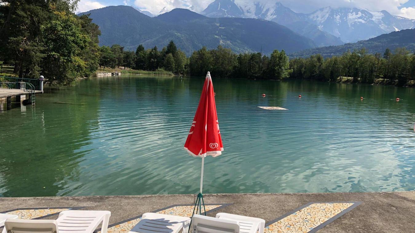 Passy : bienheureux les clients du camping Miroir du Mont-Blanc, qui disposent d'un lac privé