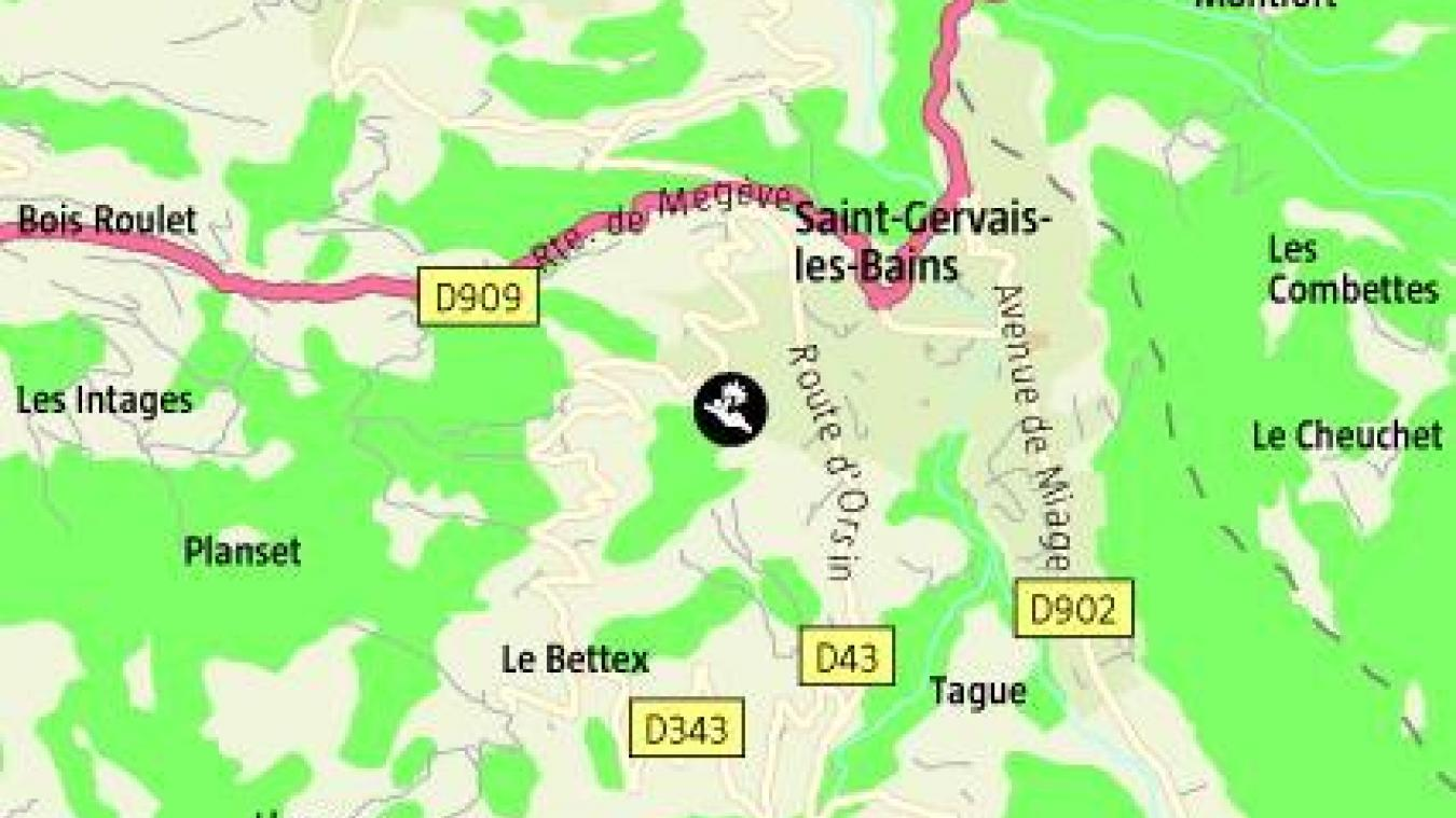 L'accident est survenu route de Cupelin.