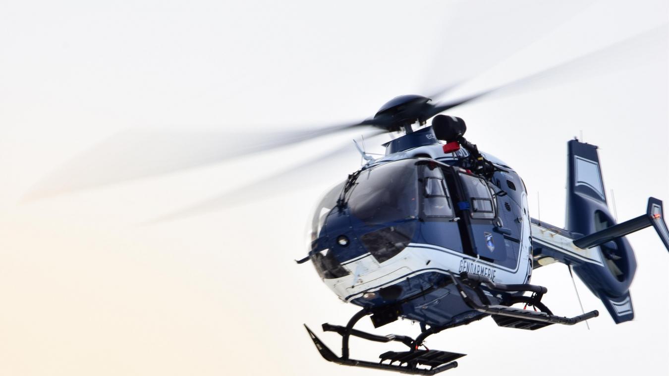 L'hélicoptère Choucas 74 a repéré l'octogénaire en bien mauvaise posture.