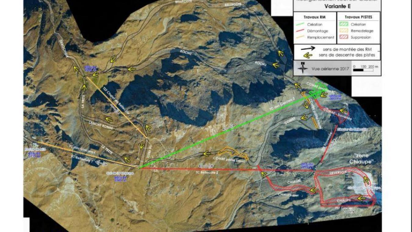 La Plagne: Télécabine de Bellecôte, projet de rénovation sur ton de protection environnementale