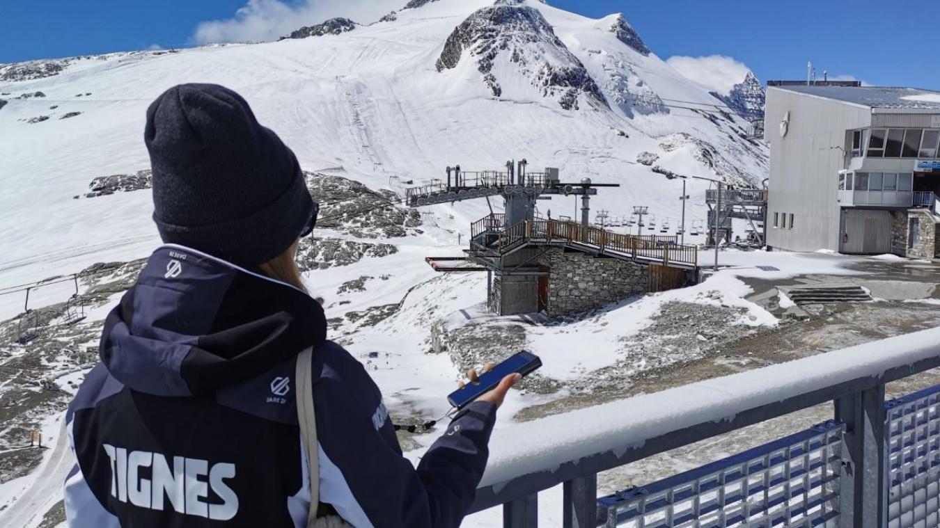 Le nouvel audio-guide est un outil passionnant pour découvrir toutes les coulisses du glacier de Tignes.