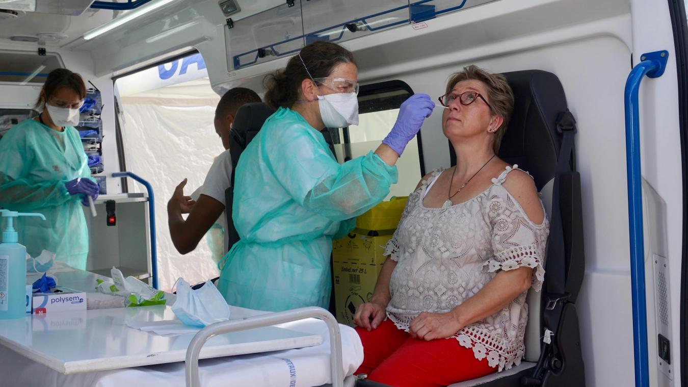 Jeudi 20 août, la participation à l'opération de dépistage à la Covid-19 avait été massive à Saint-Julien-en-Genevois. (Photo archives Rémy Genoud)