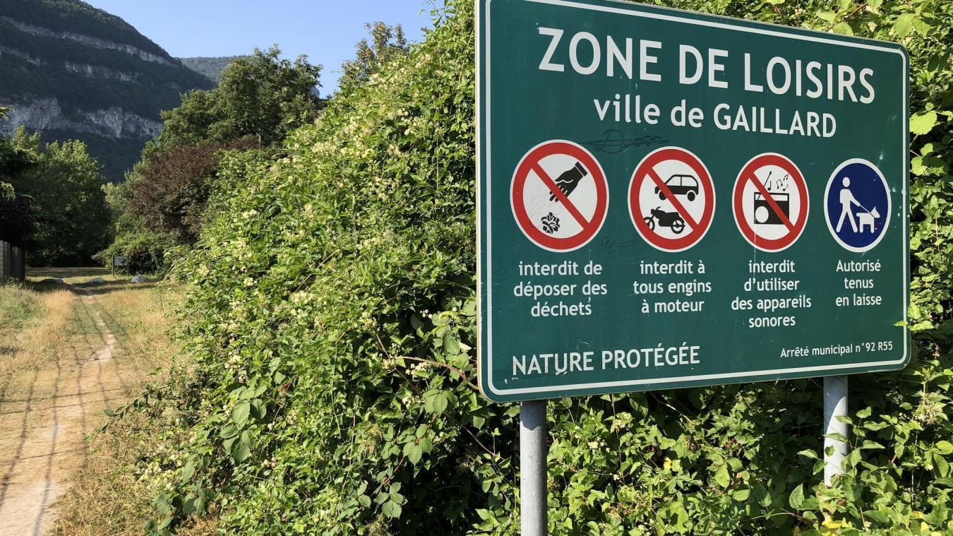 La zone de loisirs de la Châtelaine, à Gaillard, est polluée par des déchets depuis fin juin.