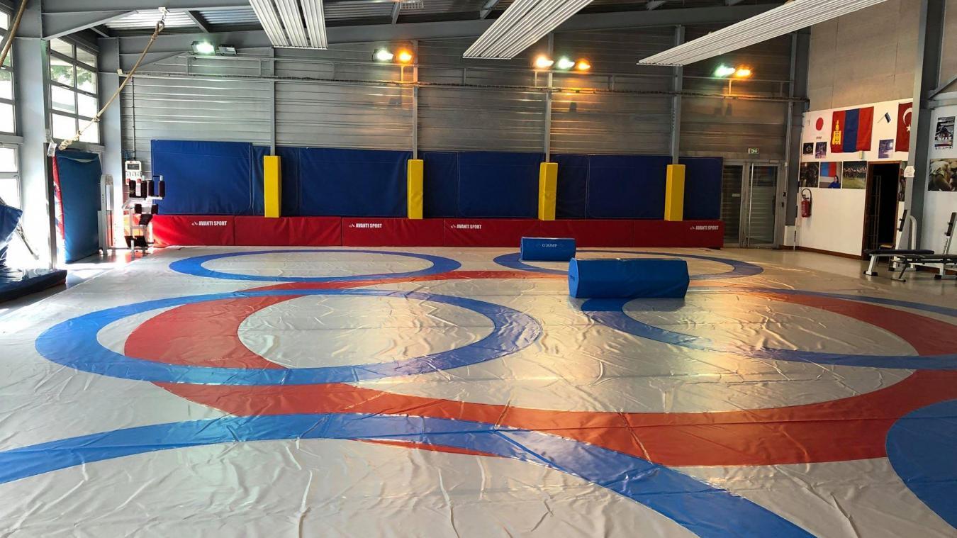 Les anneaux bleus servent à l'initiation et aux entraînements alors que le rouge, cercle olympique, est destiné aux compétitions.