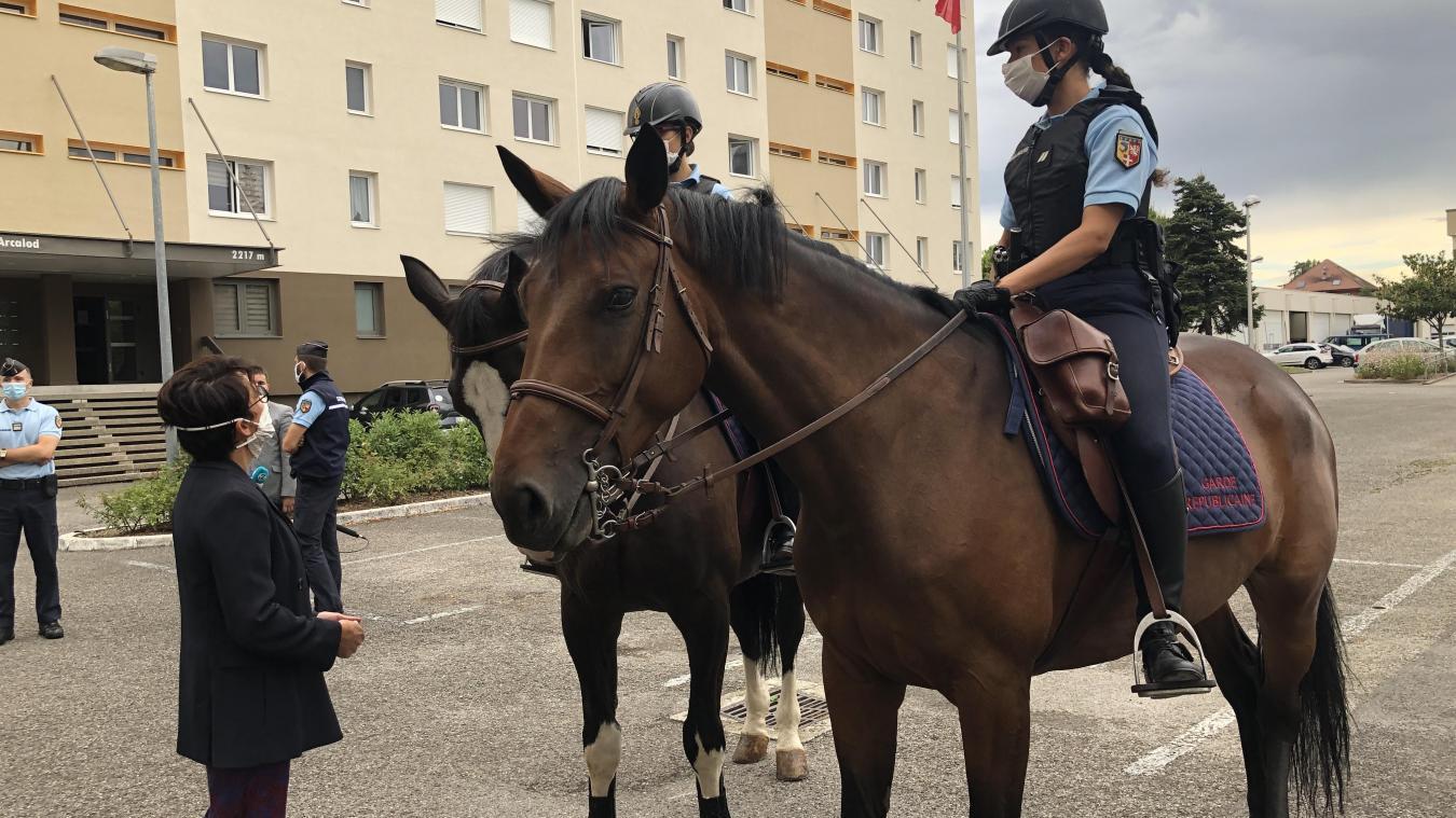 Les six chevaux de la Garde républicaine déployés en Haute-Savoie cet été étaient herbergés aux écuries du Rampignon.