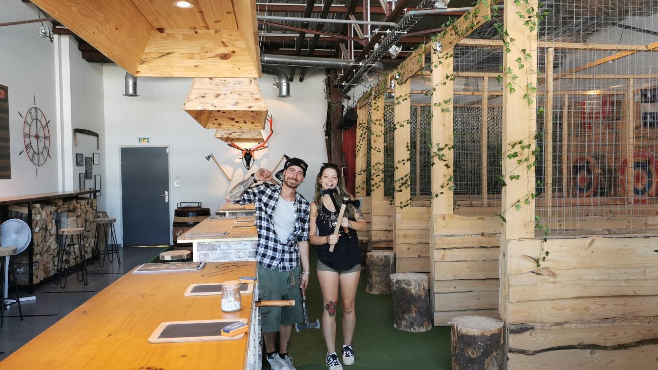 William Labbé est l'heureux nouveau propriétaire du Lumber Jacks. Ici avec sa compagne Emma Garyga.