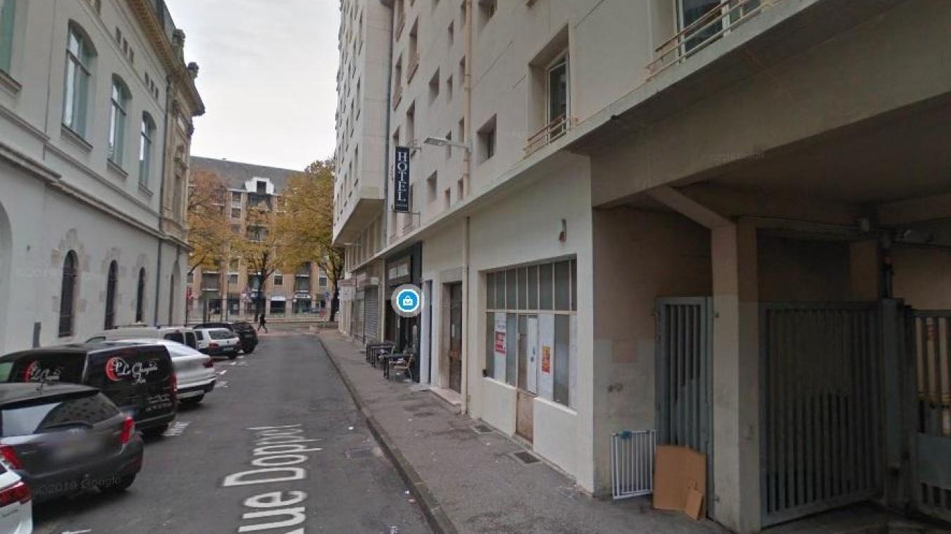 Rue Doppet, à Chambéry.
