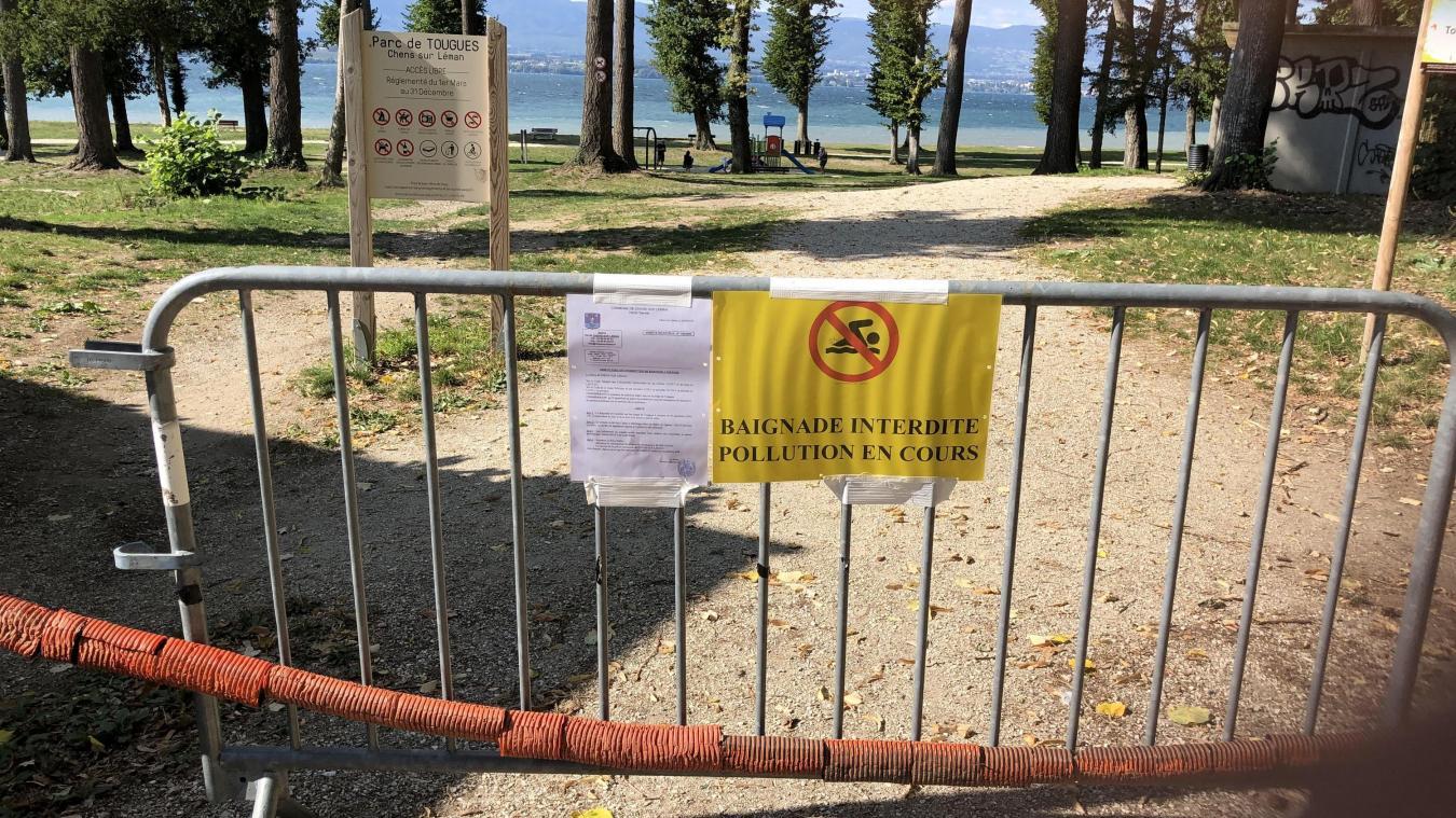 Les plages de Chens-sur-Léman interdites à la baignade.