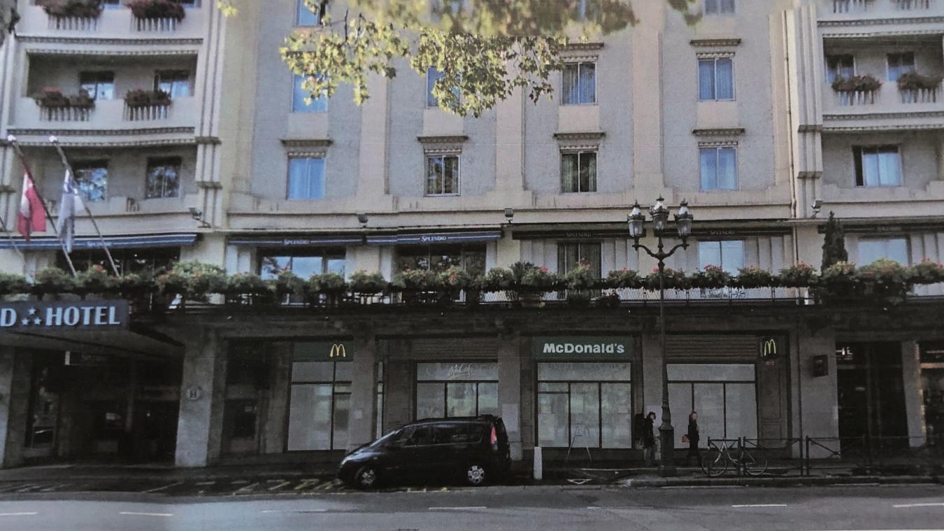 Le projet de McDonald's refusé par la Ville prévoyait une salle de restauration de 137 places et une aire de jeux au rez-de-chaussée, ainsi qu'une terrasse de 26 m2.