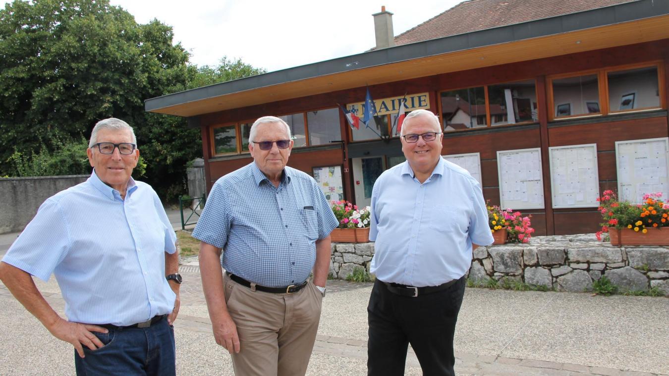 Daniel Tricot, entouré de Gilles Marcon (à gauche) et Jean-Charles Bou (à droite).