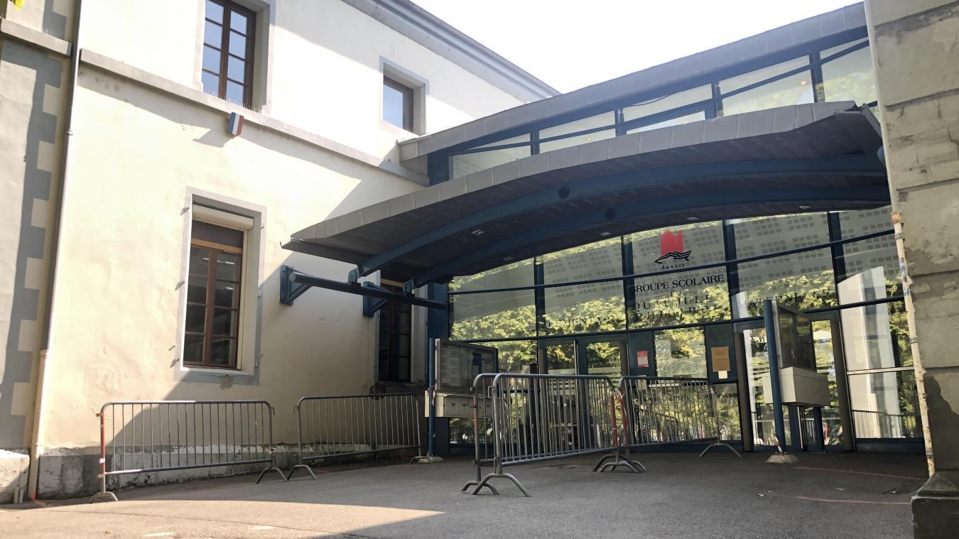 A l'école du quai Jules-Philippe d'Annecy, une classe est fermée depuis le 14 septembre. Elle rouvrira le 21.