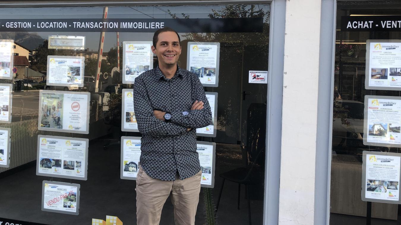 Vincent Boisson, agent en charge des transactions chez 4 % Immobilier à Albertville depuis huit ans.