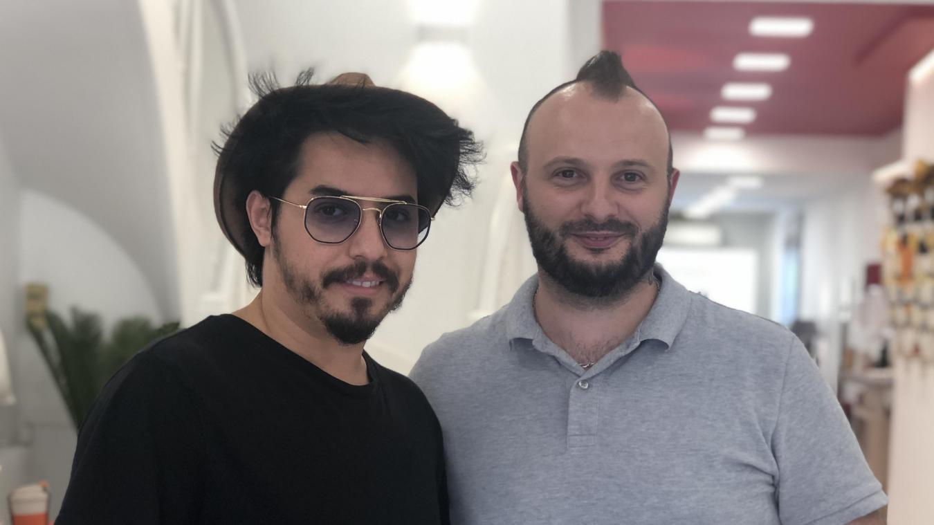 Adil Bouarbi (à gauche) et Yohann Vial sont des potes d'enfance. Ils se sont retrouvés à Annemasse il y a un an et demi.