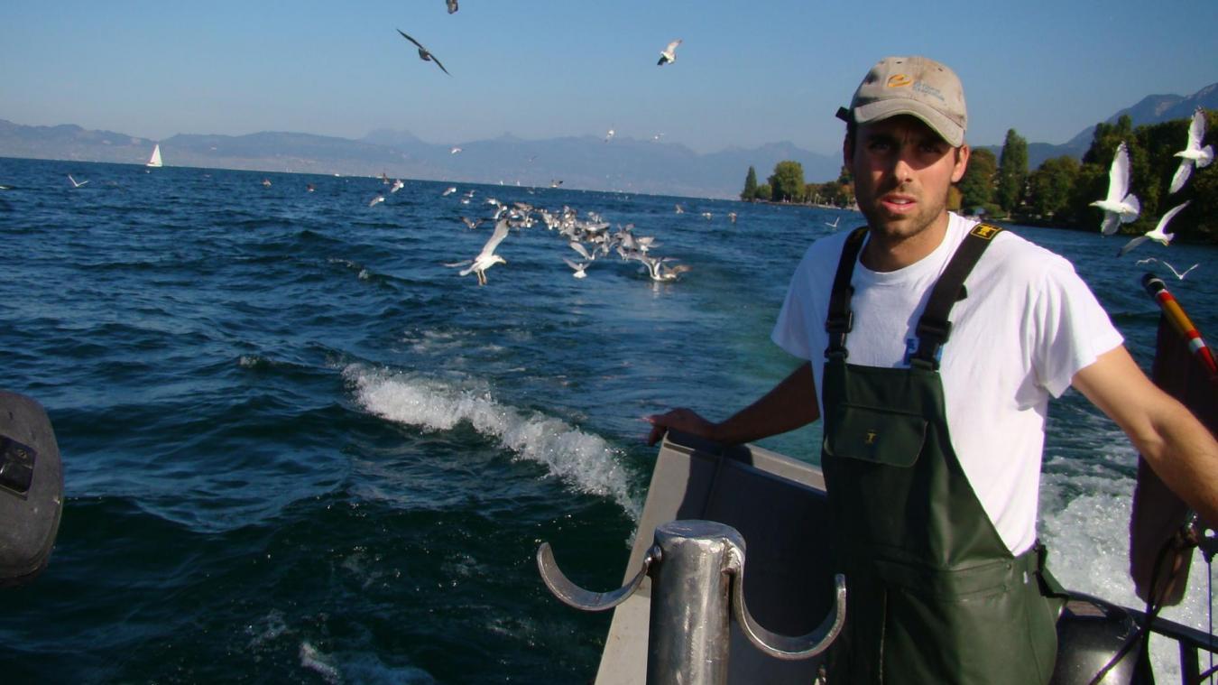 Michaël Dumaz est le président de l'association des pêcheurs professionnels des lacs alpins.