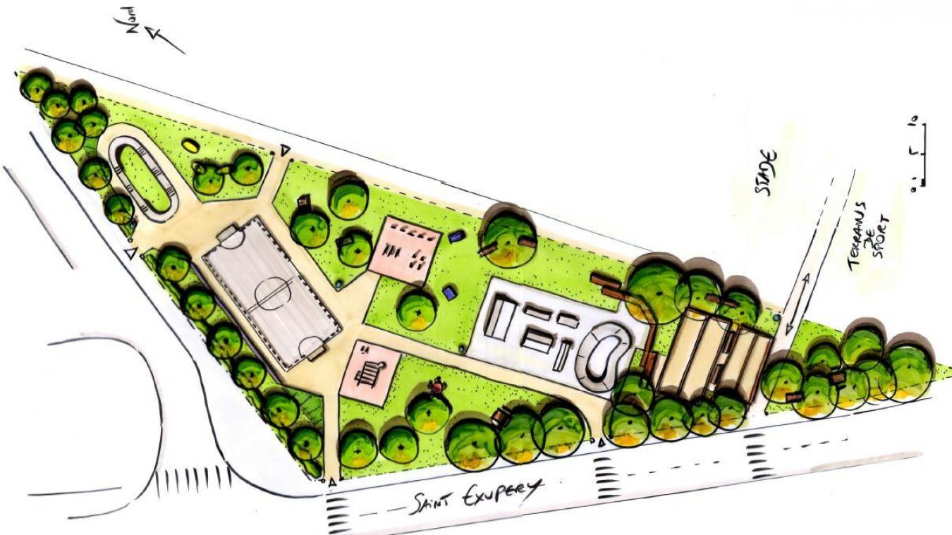 Une vue du projet tel qu'il a été présenté aux habitants du quartier.