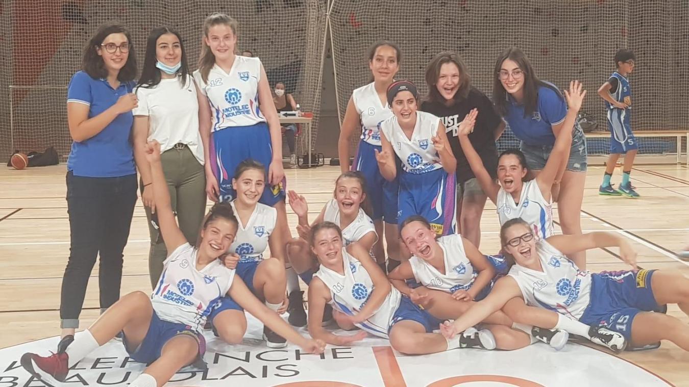 L'équipe des U15 filles qualifiée en ligue régionale.