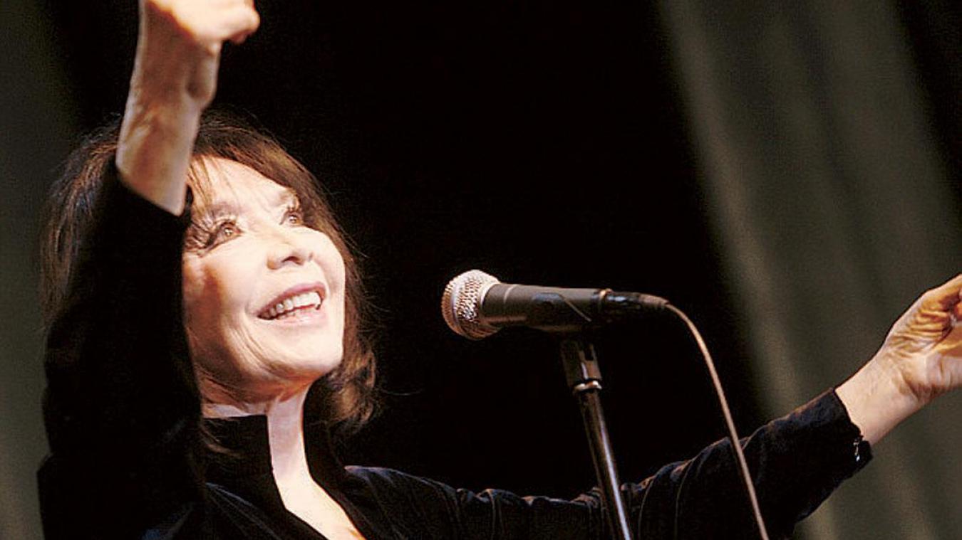 Juliette Gréco à Roubaix en 2008. PHOTO PIB / LA VOIX DU NORD