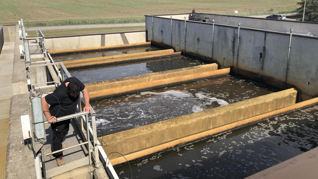 C'est tout un circuit du traitement de l'eau qui est mis en place à la station d'épuration de Douvaine.