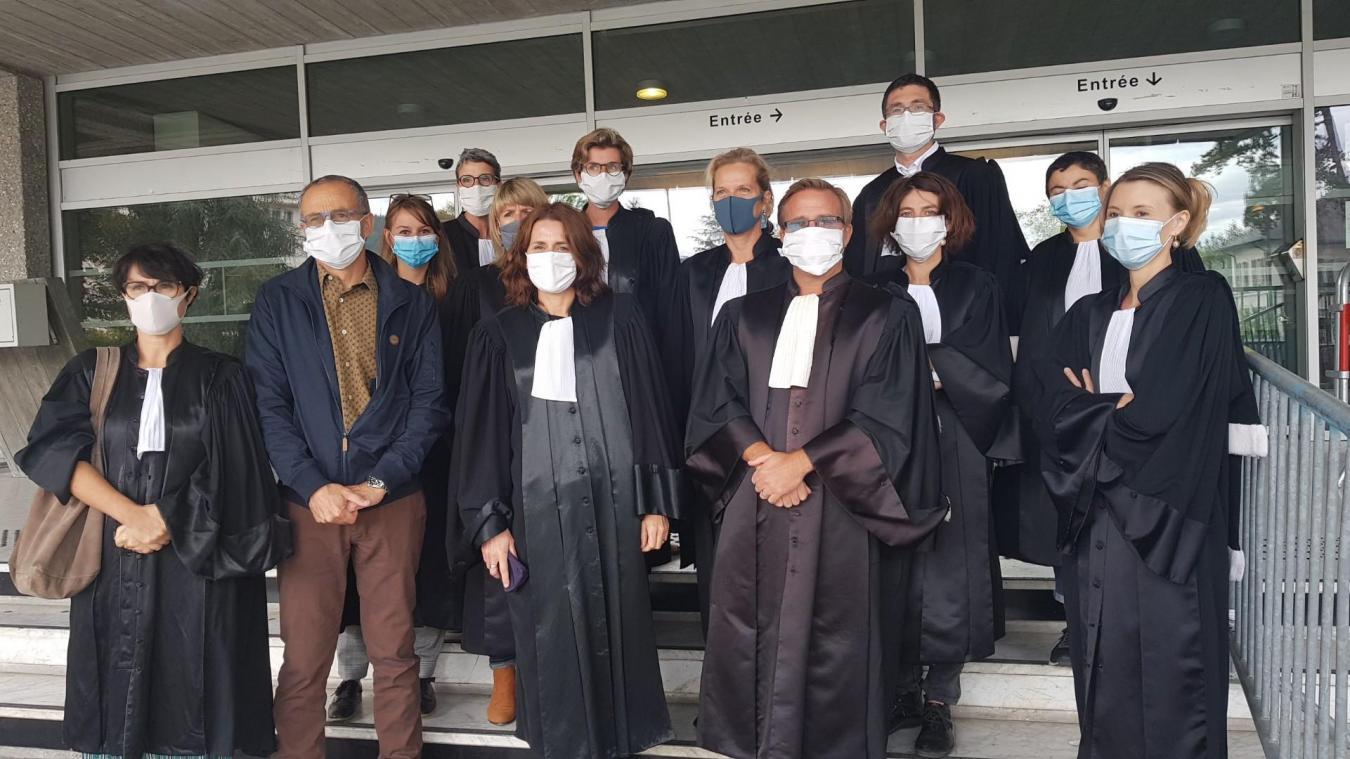 Le mouvement de grogne des magistrats a eu lieu jeudi 24 septembre 2020 devant le palais de justice d'Annecy.
