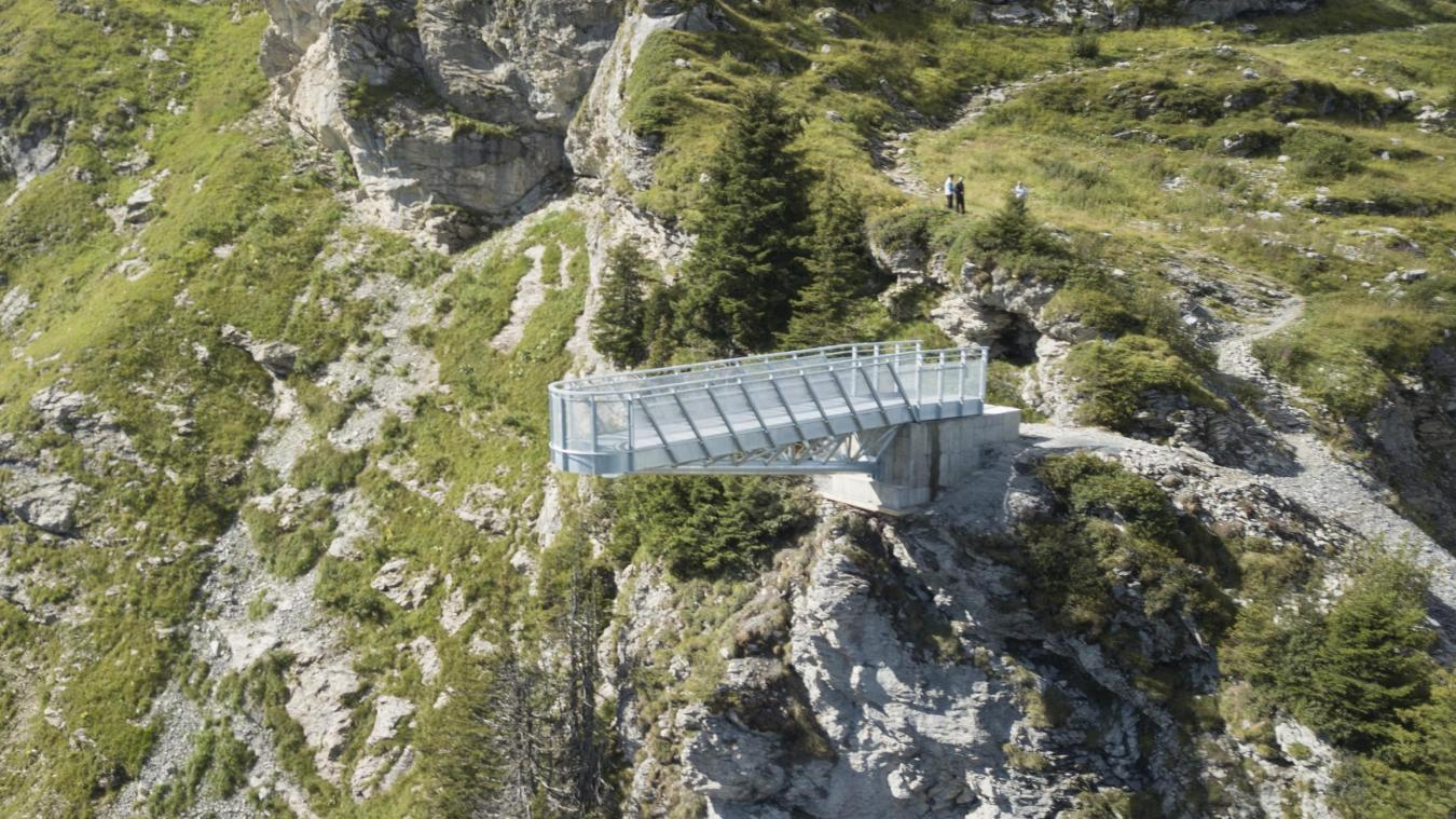 Le Pas de l'Aigle a été installé à plus de 2 000 mètres d'altitude.