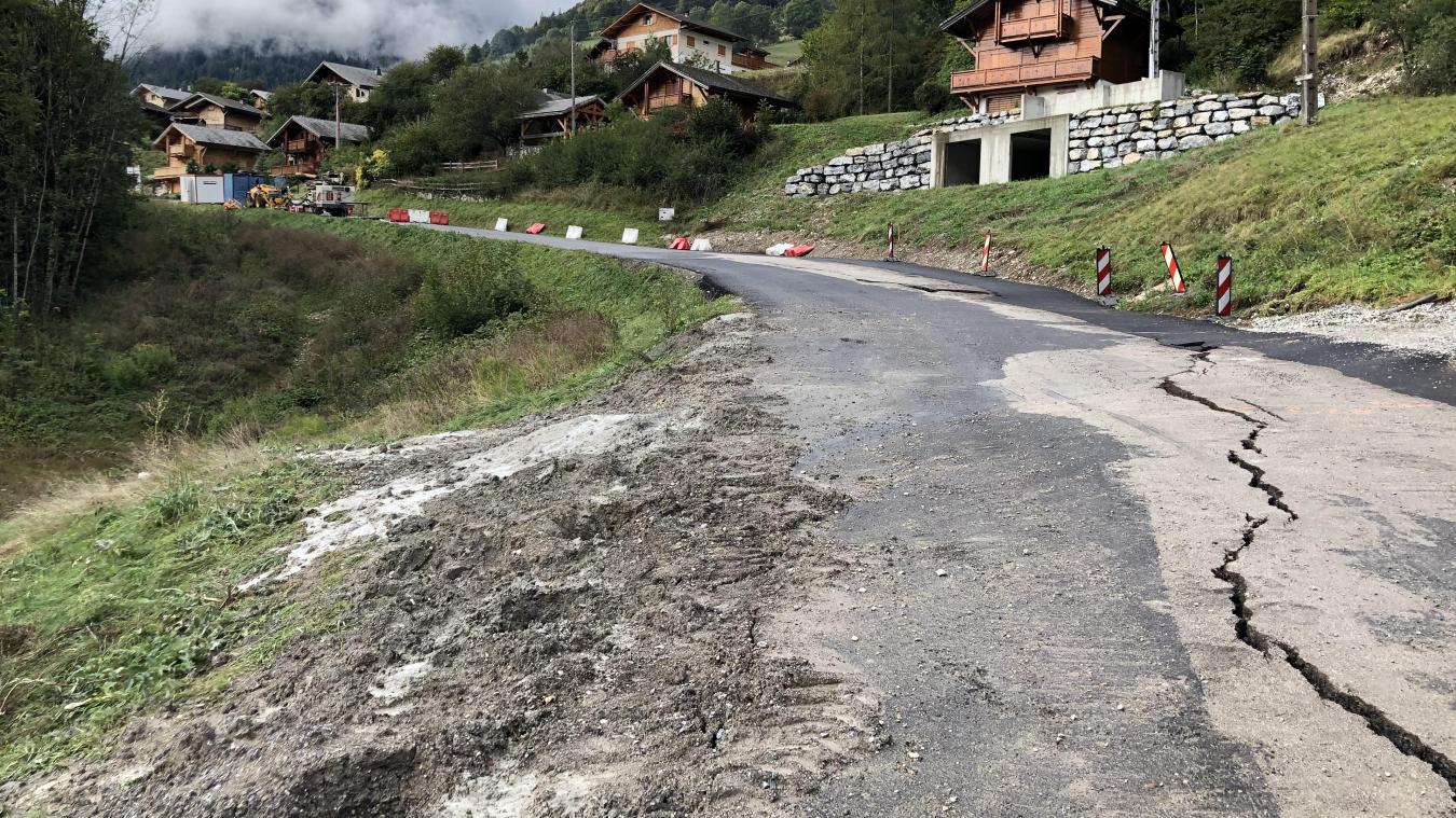 La route de Bonnevaux est fermée suite à un glissement de terrain