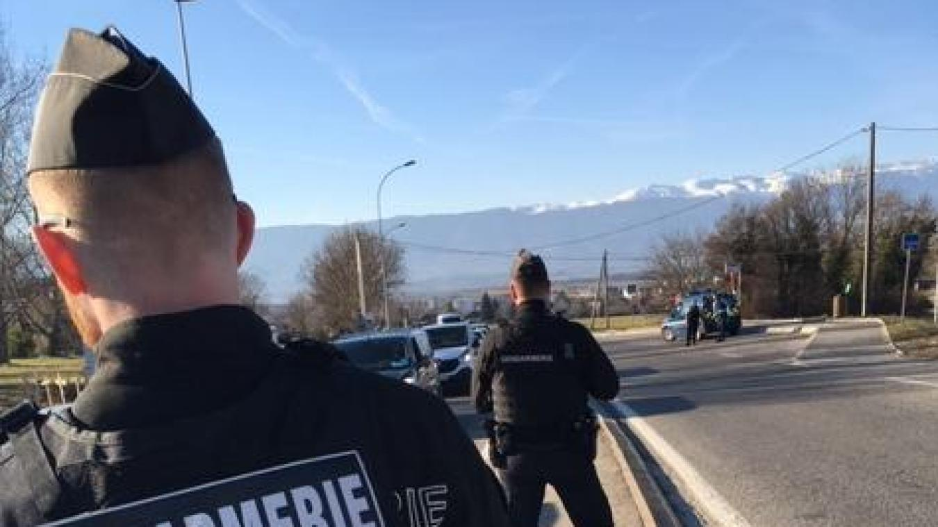 Opération de lutte contre la délinquance pour la compagnie de Saint-Julien-en-Genevois.
