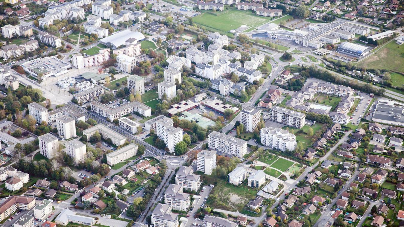 Le Perrier est un quartier emblématique d'Annemasse, qui ne cesse d'évoluer depuis sa construction dans les années 1970. Photo Stéphane Couchet