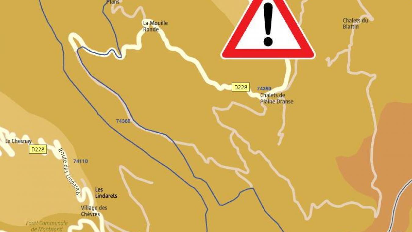 Châtel: l'accès au col de Bassachaux fermé suite à une chute de bloc