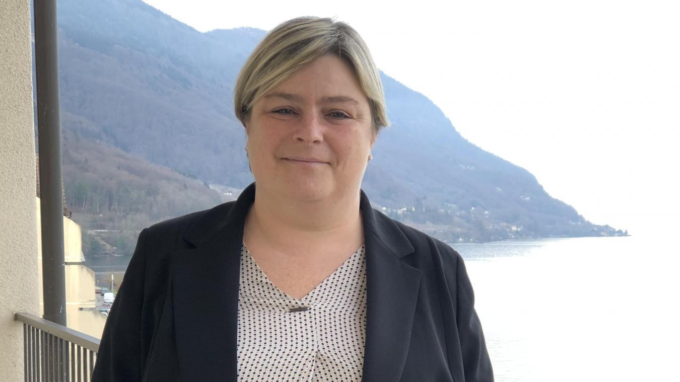 Géraldine Pflieger est la maire du village de Saint-Gingolph depuis 2014.