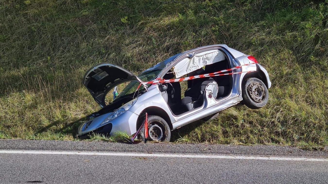 Bons-en-Chablais : une voiture fait des tonneaux à la sortie de Langin