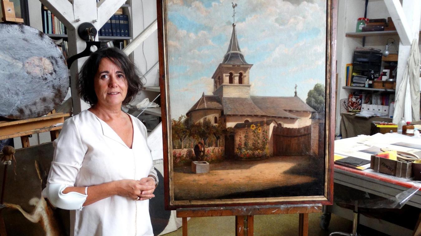 Montailleur: un tableau livre les secrets d'une restauration pas uniquement picturale