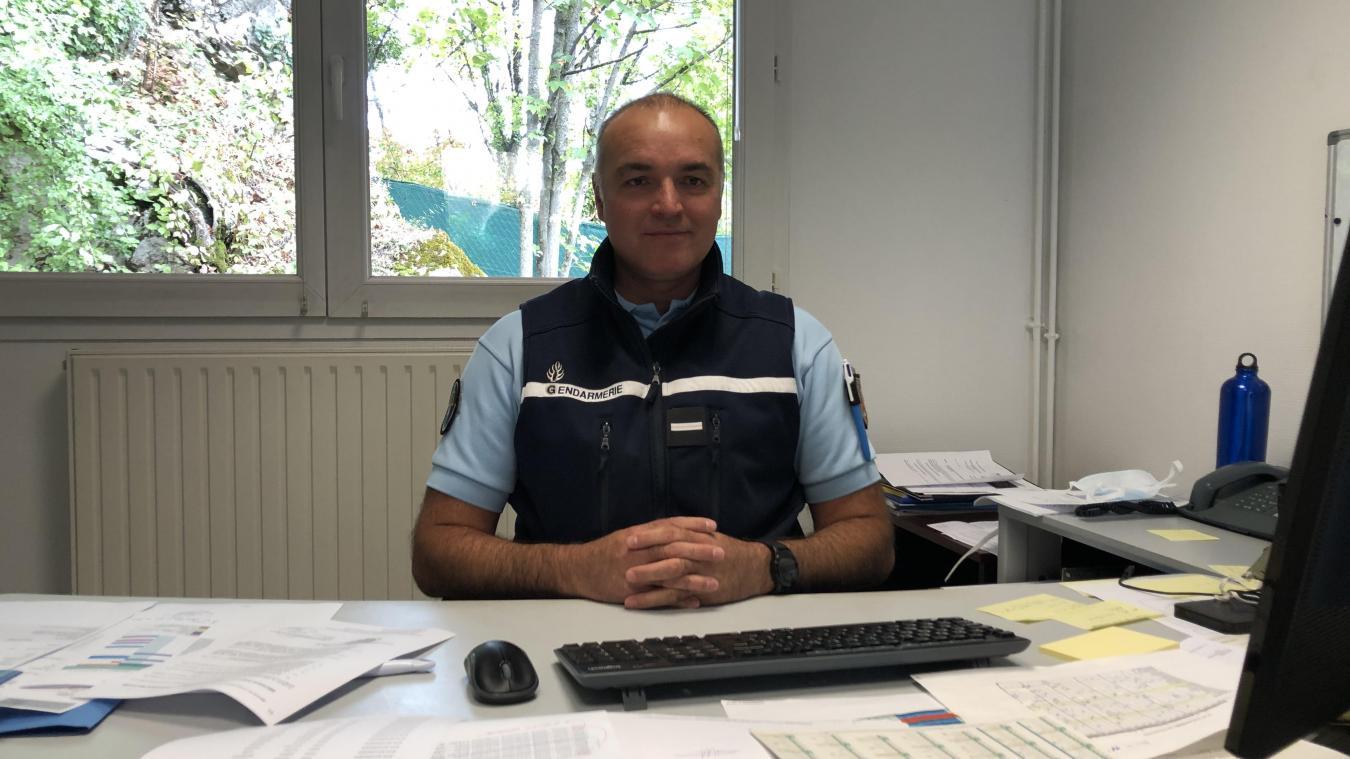 L'adjudant-chef Sébastien Durand commande la brigade de gendarmerie de La Roche-sur-Foron depuis le 1 er  septembre 2020.