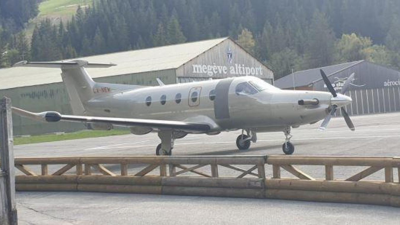 15 500 vols par an à l'altiport de Megève dont certains pendant le confinement, comme celui du 8 mai, à 17h30 (photo de l'association Ara).