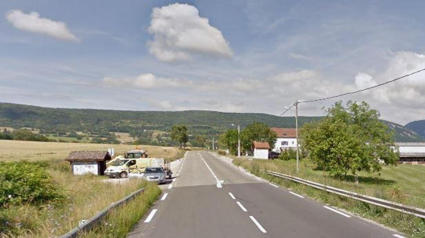 Jeudi 8 octobre, un accident s'est produit entre une voiture et un scooter, route de Saint-Julien, à Vulbens, vers 19h40. (Capture Google Maps)