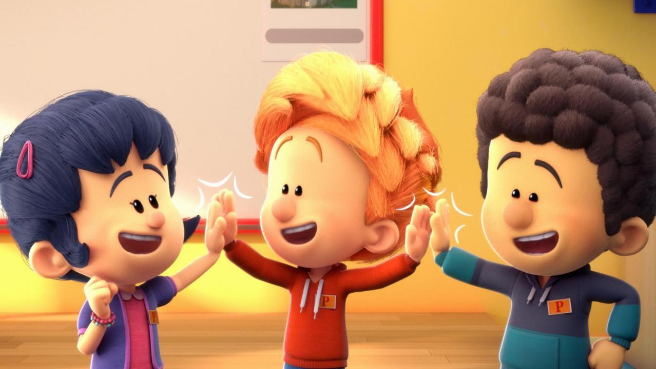 Le studio annécien In The Box s'est occupé de l'animation des personnages principaux, dont le héros Toto (ici au centre). Image : SuperProd.