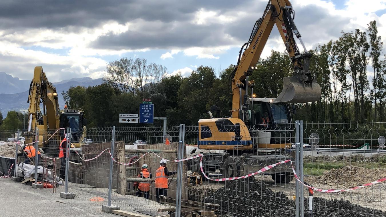 (PHOTOS) Travaux du nœud autoroutier de Chambéry Nord : où en est-on?