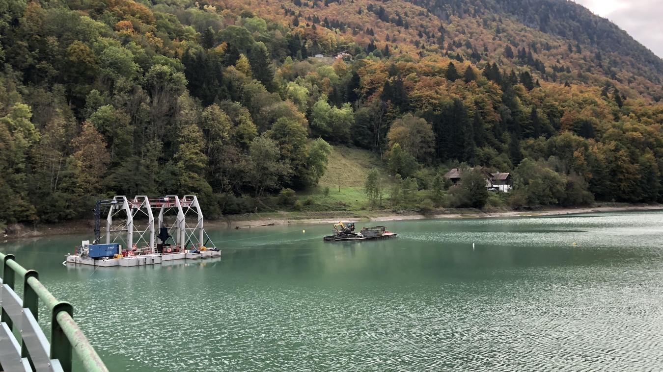 (Photos & vidéos) Un chantier unique au monde au barrage du Jotty