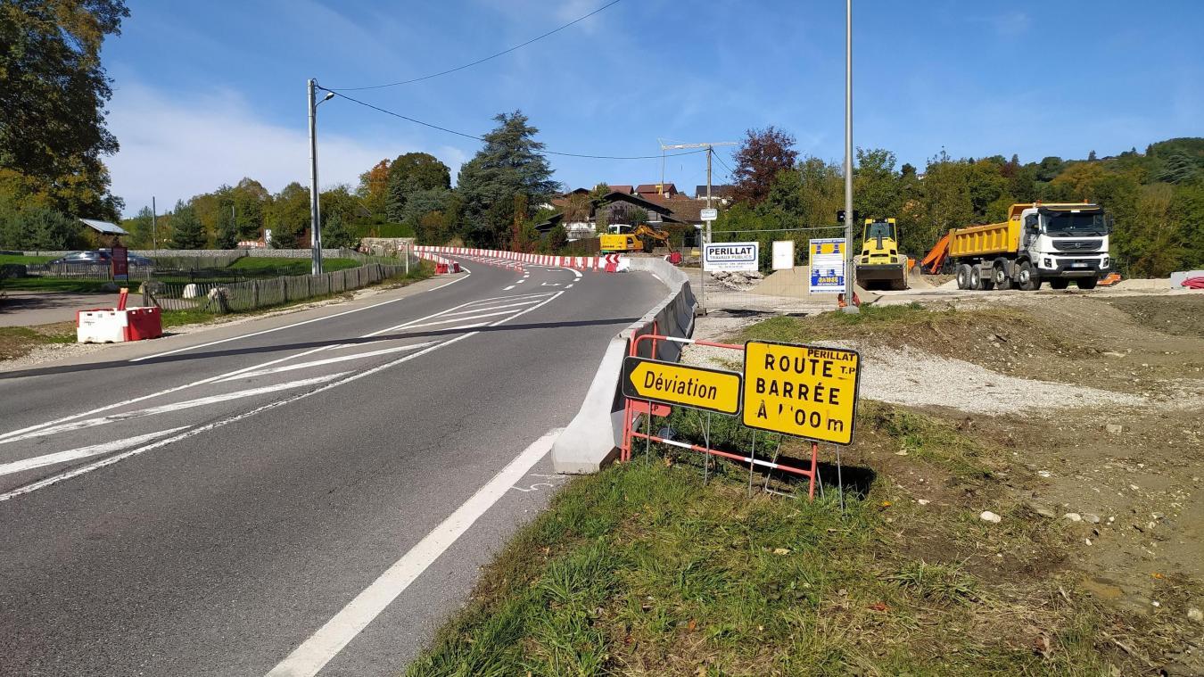 Ce rond-point va sécuriser le site des Ponts de la Caille situé à cheval sur Cruseilles et Allonzier.