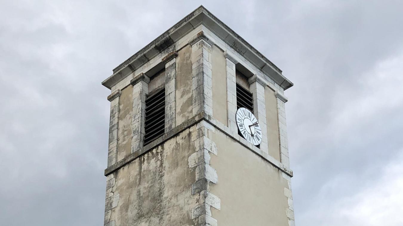 La partie du clocher nécessitant le plus de travaux.