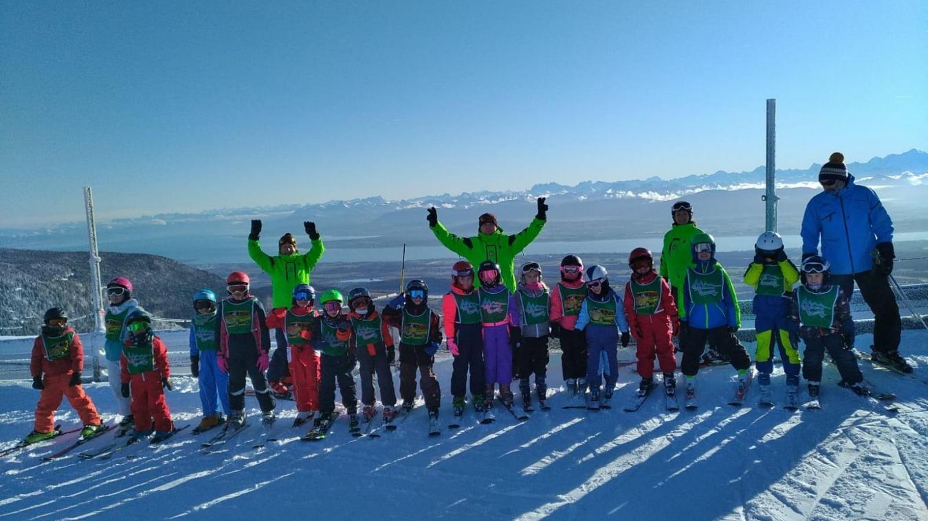 Chaque hiver, le ski club de Lancrans initie les jeunes à la pratique de la glisse.