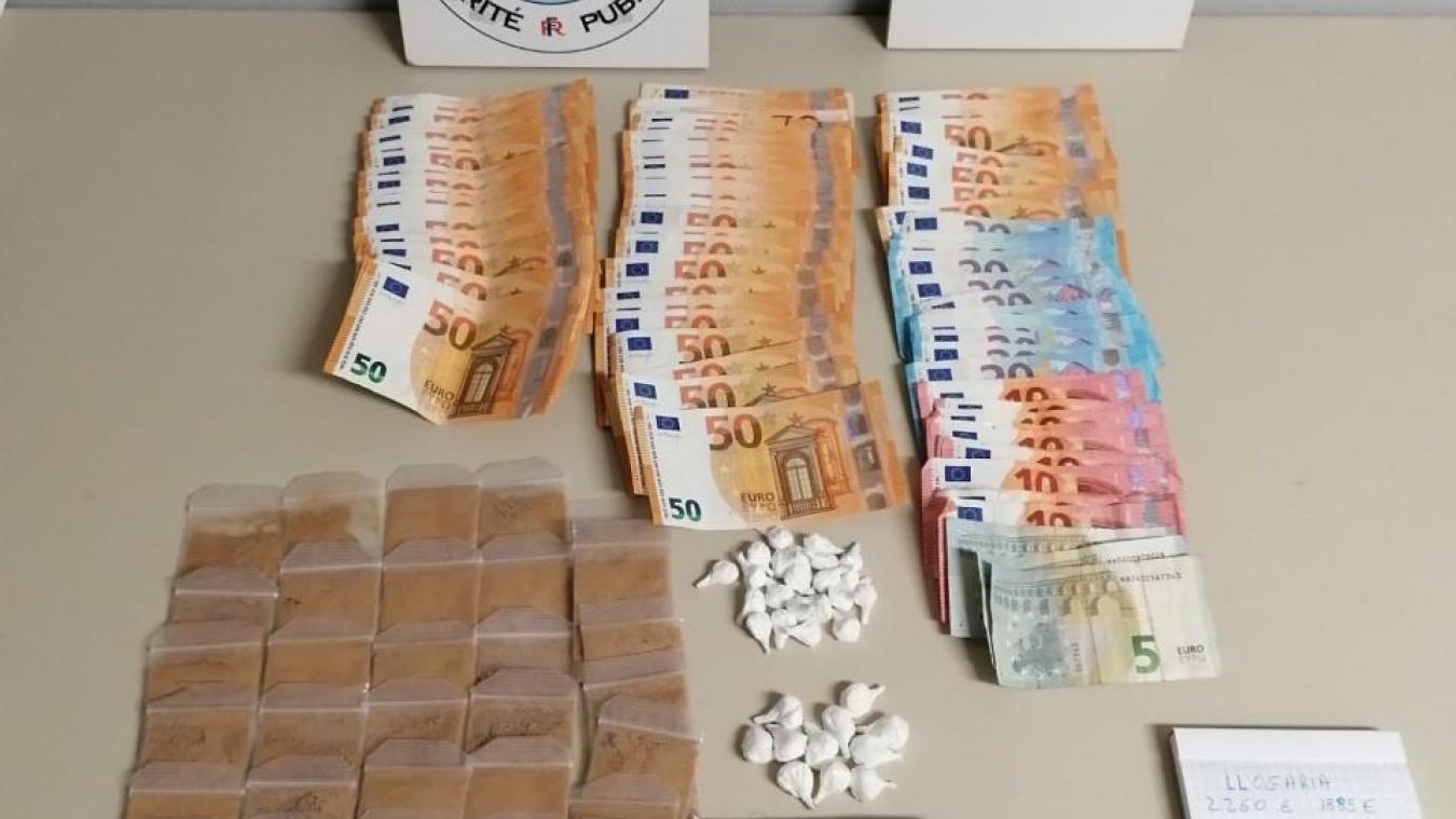 Une importante saisie de drogue a été effectuée par la police.
